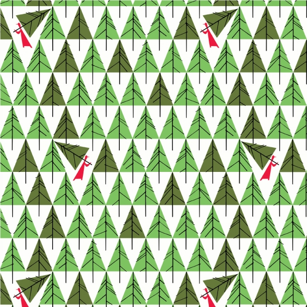 Geo Trees by Charley Harper for Birch Organic Fabrics sold by Online Canadian Fabric Store Woven Modern Fabric Gallery