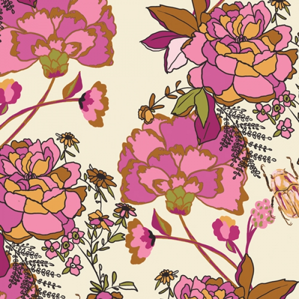 Greet the Guests Blush fabric by Bari J for Art Gallery Fabrics sold by Online Canadian Fabric Store Woven Modern Fabric Gallery