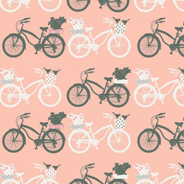 Fietsen from Fusion Printemps, Art Gallery Fabrics sold by Online Canadian Fabric Store Woven Modern Fabric Gallery