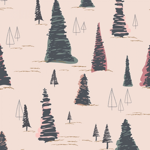 Sparkler Fusion Pinetree by Art Gallery Fabrics sold by Online Canadian Fabric Store Woven Modern Fabric Gallery