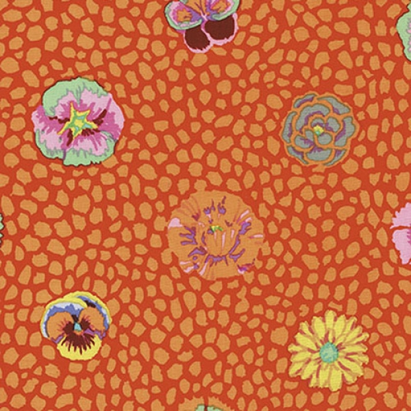2 yds Guinea Flower in apricot  from the Kaffe Fassett collection