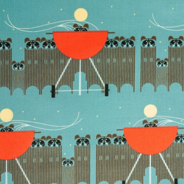 Big Rac Attack by Charley Harper for Birch Fabrics sold by Online Canadian Fabric Store Woven Modern Fabric Gallery
