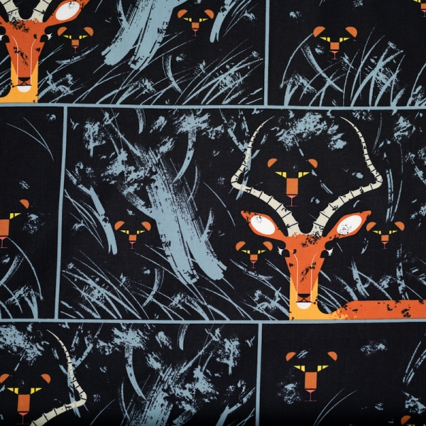 Night Gazelle Organic by Charley Harper for Birch Fabrics sold by Online Canadian Fabric Store Woven Modern Fabric Gallery