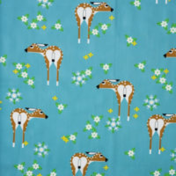 Sierra Deer Field organic fabric by Charley Harper for Birch Fabrics sold by Online Canadian Fabric Store Woven Modern Fabric Gallery