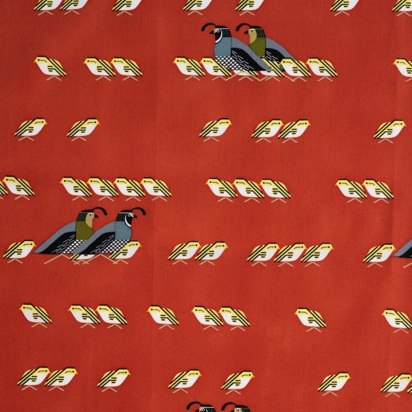 California Quail Organic by Charley Harper for Birch Fabrics sold by Online Canadian Fabric Store Woven Modern Fabric Gallery