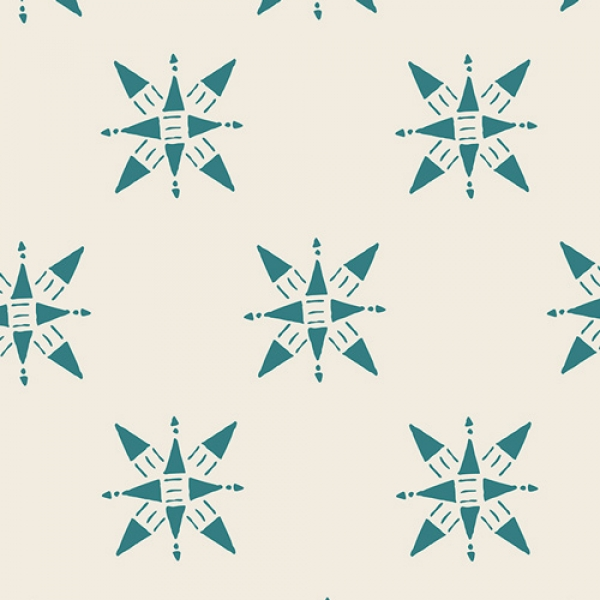 Compasion Teal by Art Gallery Fabrics sold by Online Canadian Fabric Store Woven Modern Fabric Gallery