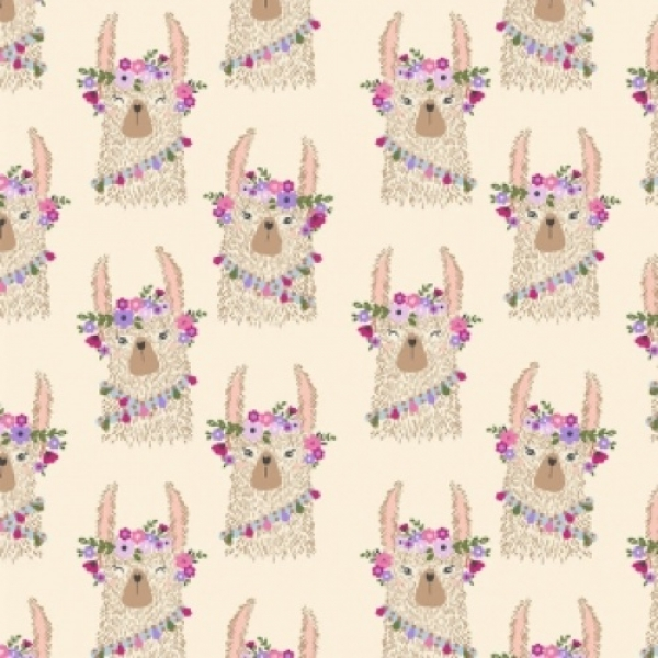 Llama Heads from Dear Stella Fabrics sold by Online Canadian Fabric Store Woven Modern Fabric Gallery