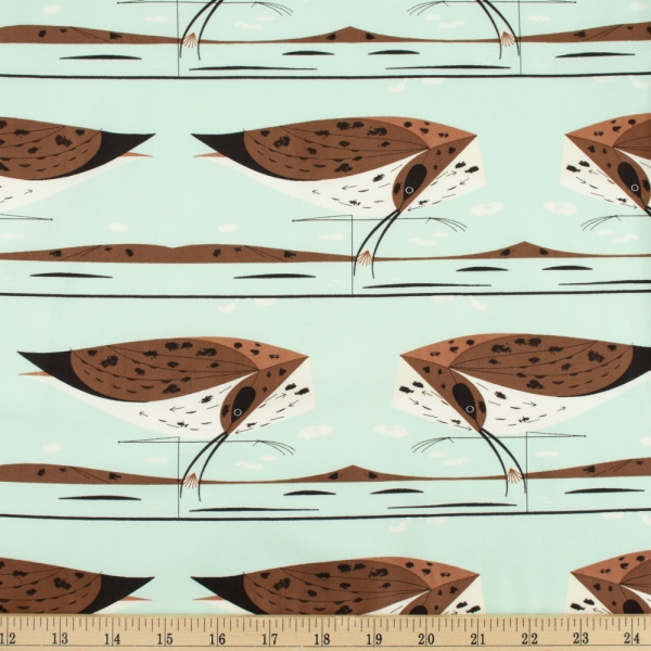 Curlew Organic fabric by Charley Harper for Birch Fabrics sold by Online Canadian Fabric Store Woven Modern Fabric Gallery