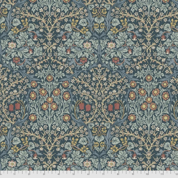 Blackthorn indigo fabric by Morris & Co sold by Online Canadian Fabric Store Woven Modern Fabric Gallery