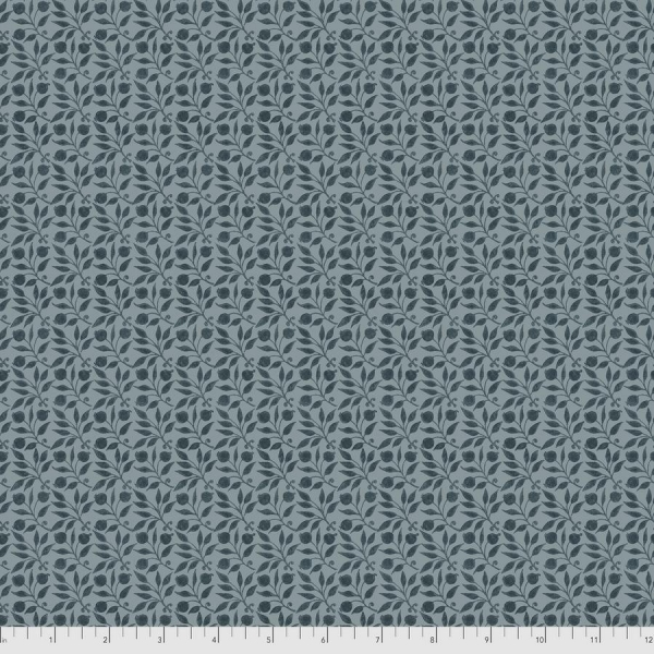 Rosehip indigo fabric by Morris & Co sold by Online Canadian Fabric Store Woven Modern Fabric Gallery