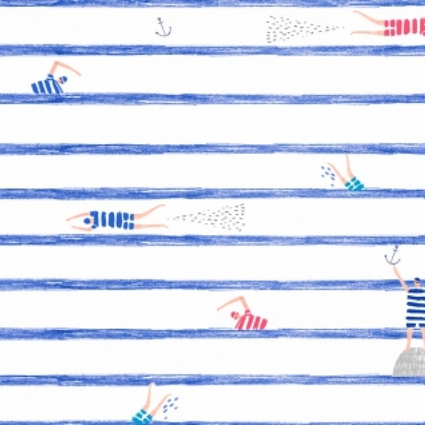 Swimmers Stripe by Dear Stella Fabrics sold by Online Canadian Fabric Store Woven Modern Fabric Gallery