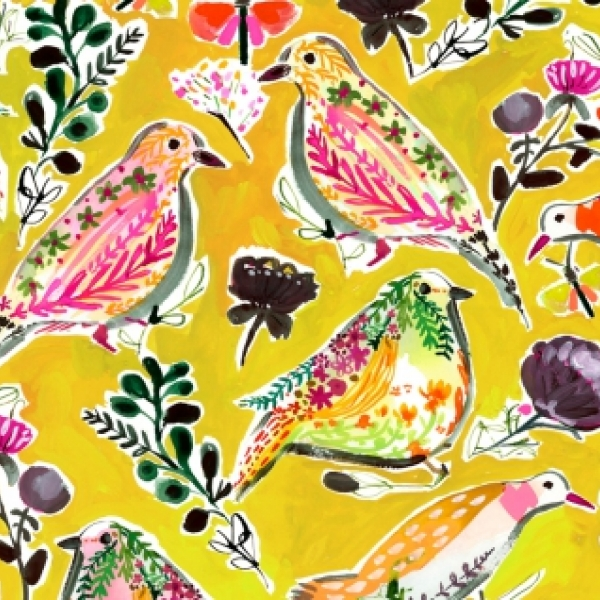 Harvest Birds by August Wren for Dear Stella  Fabrics sold by Online Canadian Fabric Store Woven Modern Fabric Gallery