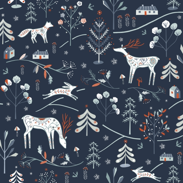 Winterfold Forest Charcoal by Dashwood studio sold by Online Canadian Fabric Store Woven Modern Fabric Gallery