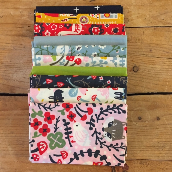 Folkland organic Fat Quarter Bundle from Birch Organics sold by Online Canadian Fabric Store Woven Modern Fabric Gallery