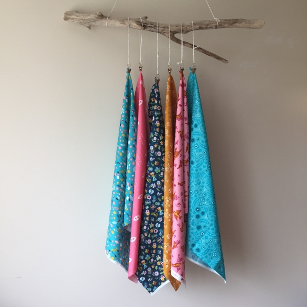 Weekly Combo six fat quarters curated by Kelly sold by Online Canadian Fabric Store Woven Modern Fabric Gallery