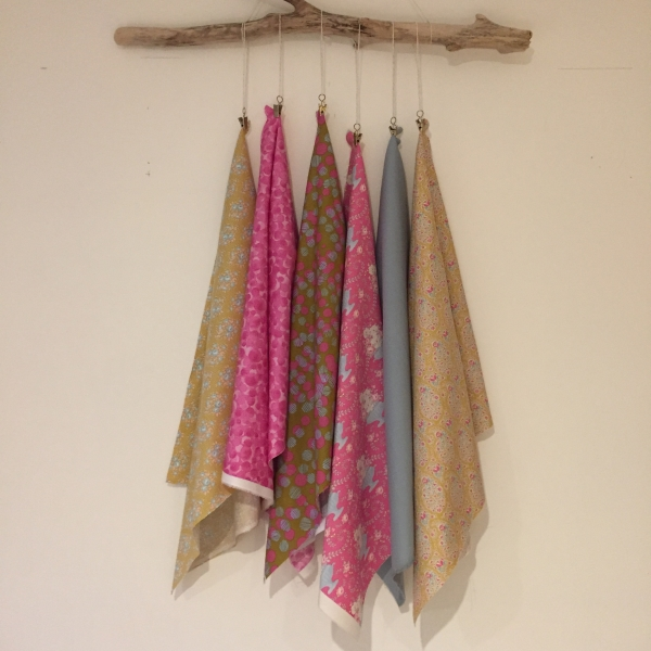Weekly combination of six fat quarters for sale at Woven Modern Fabric Gallery