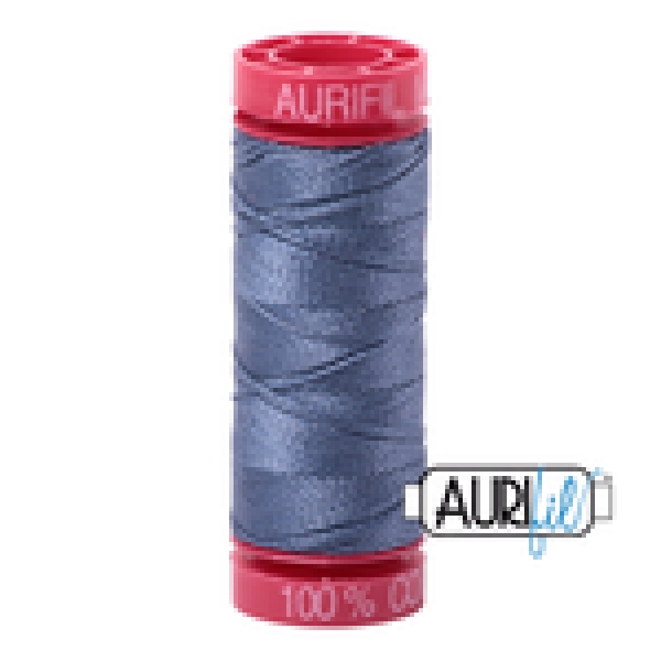 Aurifil Thread Dark Grey Blue 1248 12 wt sold by Online Canadian Fabric Store Woven Modern Fabric Gallery