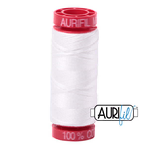 Aurifil Thread Natural White 2021 12 wt sold by Online Canadian Fabric Store Woven Modern Fabric Gallery