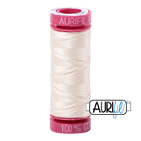 Aurifil Thread Chalk 2026 12 wt sold by Online Canadian Fabric Store Woven Modern Fabric Gallery