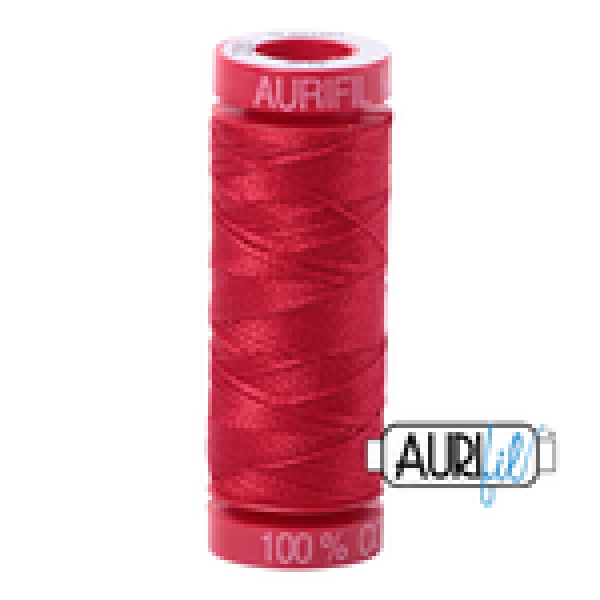 Aurifil Thread Red 2250 12 wt sold by Online Canadian Fabric Store Woven Modern Fabric Gallery