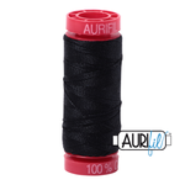 Aurifil Thread Black 12 wt sold by Online Canadian Fabric Store Woven Modern Fabric Gallery