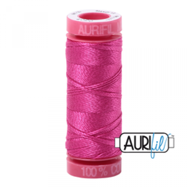 Aurifil Thread 12 wt Fuchsia  4020 sold by Online Canadian Fabric Store Woven Modern Fabric Gallery