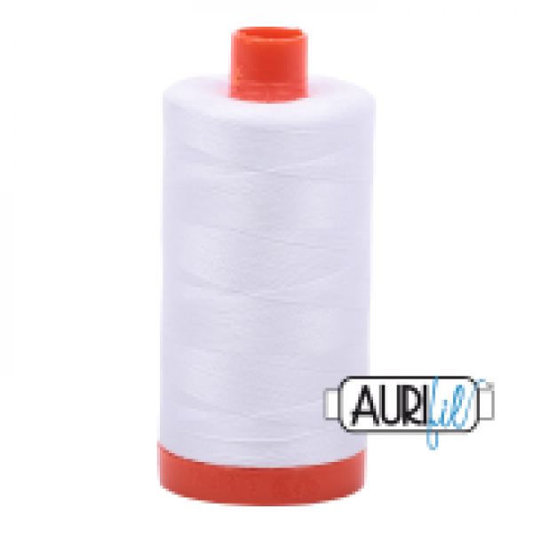 Aurifil Thread White sold by Online Canadian Fabric Store Woven Modern Fabric Gallery