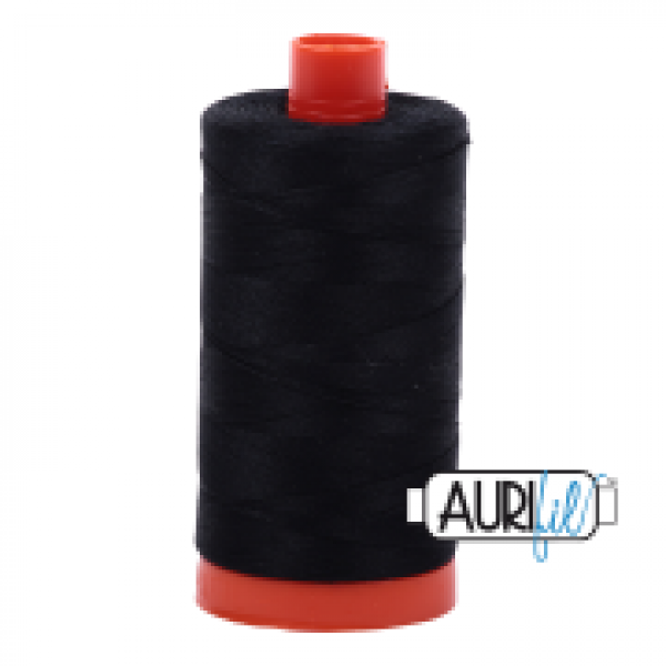 Aurifil Thread Black 2692 sold by Online Canadian Fabric Store Woven Modern Fabric Gallery
