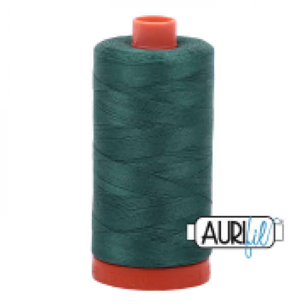 Aurifil Thread Turf Green 4129 sold by Online Canadian Fabric Store Woven Modern Fabric Gallery