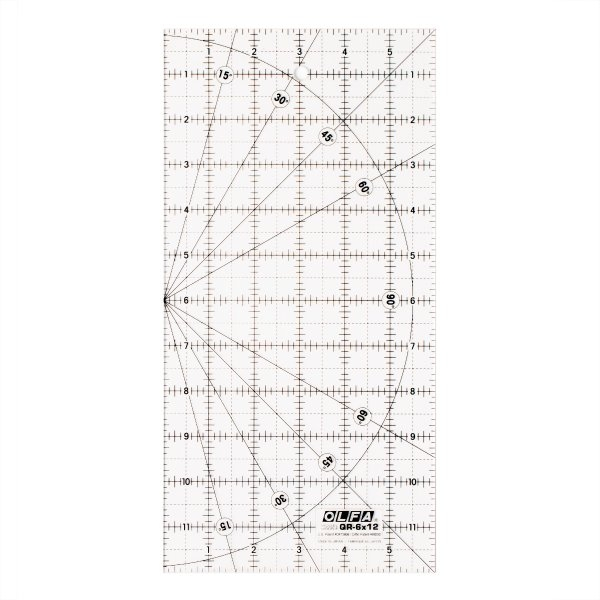 Olfa Frosted Quilt Ruler 6x12 sold by Online Canadian Fabric Store Woven Modern Fabric Gallery
