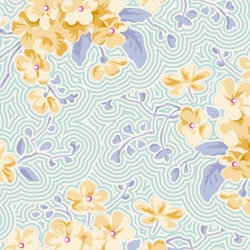 Primrose Teal  by Tilda sold by Online Canadian Fabric Store Woven Modern Fabric Gallery