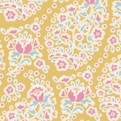 Charlene Honey by Tilda sold by Online Canadian Fabric Store Woven Modern Fabric Gallery