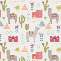 Alpacas  by Lewis & Irene sold by Online Canadian Fabric Store Woven Modern Fabric Gallery