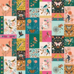 Aviary Panel from Dashwood Studios sold by Online Canadian Fabric Store Woven Modern Fabric Gallery