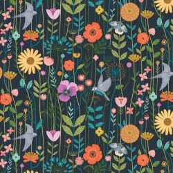 Aviary Meadow from Dashwood Studios sold by Online Canadian Fabric Store Woven Modern Fabric Gallery