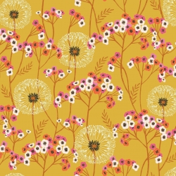 Aviary Gold Dadelion from Dashwood Studios sold by Online Canadian Fabric Store Woven Modern Fabric Gallery