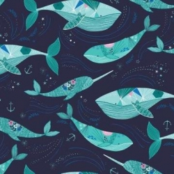 Whales from Dashwood Studios sold by Online Canadian Fabric Store Woven Modern Fabric Gallery