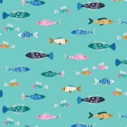 Fish from Dashwood Studios sold by Online Canadian Fabric Store Woven Modern Fabric Gallery