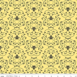 Queen Bee Yellow from Riley Blake sold by Online Canadian Fabric Store Woven Modern Fabric Gallery