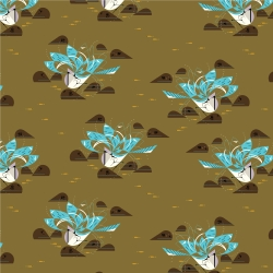 Bluejay Bathing Organic fabric by Charley Harper for Birch Fabrics sold by Online Canadian Fabric Store Woven Modern Fabric Gallery