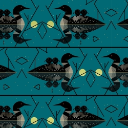 Clair De Loon organic fabric from Birch Fabrics sold by Online Canadian Fabric Store Woven Modern Fabric Gallery