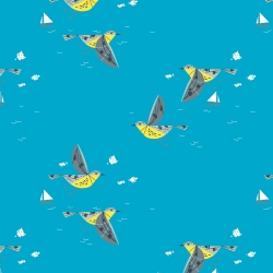Caribbean Cruisers Organic fabric by Charley Harper for Birch Fabrics sold by Online Canadian Fabric Store Woven Modern Fabric Gallery