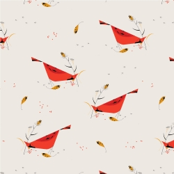 Berry Feast by Charley Harper for Birch Organic Fabrics sold by Online Canadian Fabric Store Woven Modern Fabric Gallery