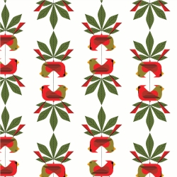 Cardinal Consort by Charley Harper for Birch Organic Fabrics sold by Online Canadian Fabric Store Woven Modern Fabric Gallery