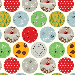 Ornaments  by Charley Harper for Birch Organic Fabrics sold by Online Canadian Fabric Store Woven Modern Fabric Gallery