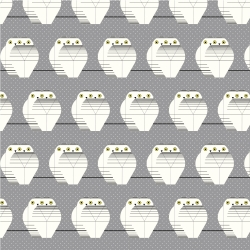 Two Owls by Charley Harper for Birch Organic Fabrics sold by Online Canadian Fabric Store Woven Modern Fabric Gallery