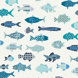 School of Fish by Mr Domestic for Art Gallery Fabrics sold by Online Canadian Fabric Store Woven Modern Fabric Gallery