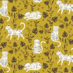 Cool for Cats by Dashwood studio sold by Online Canadian Fabric Store Woven Modern Fabric Gallery