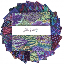 """Emperor 10"""" charm pack by Kaffe Fassett sold by Online Canadian Fabric Store Woven Modern Fabric Gallery"""