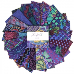 """Emperor 5"""" charm pack by Kaffe Fassett sold by Online Canadian Fabric Store Woven Modern Fabric Gallery"""